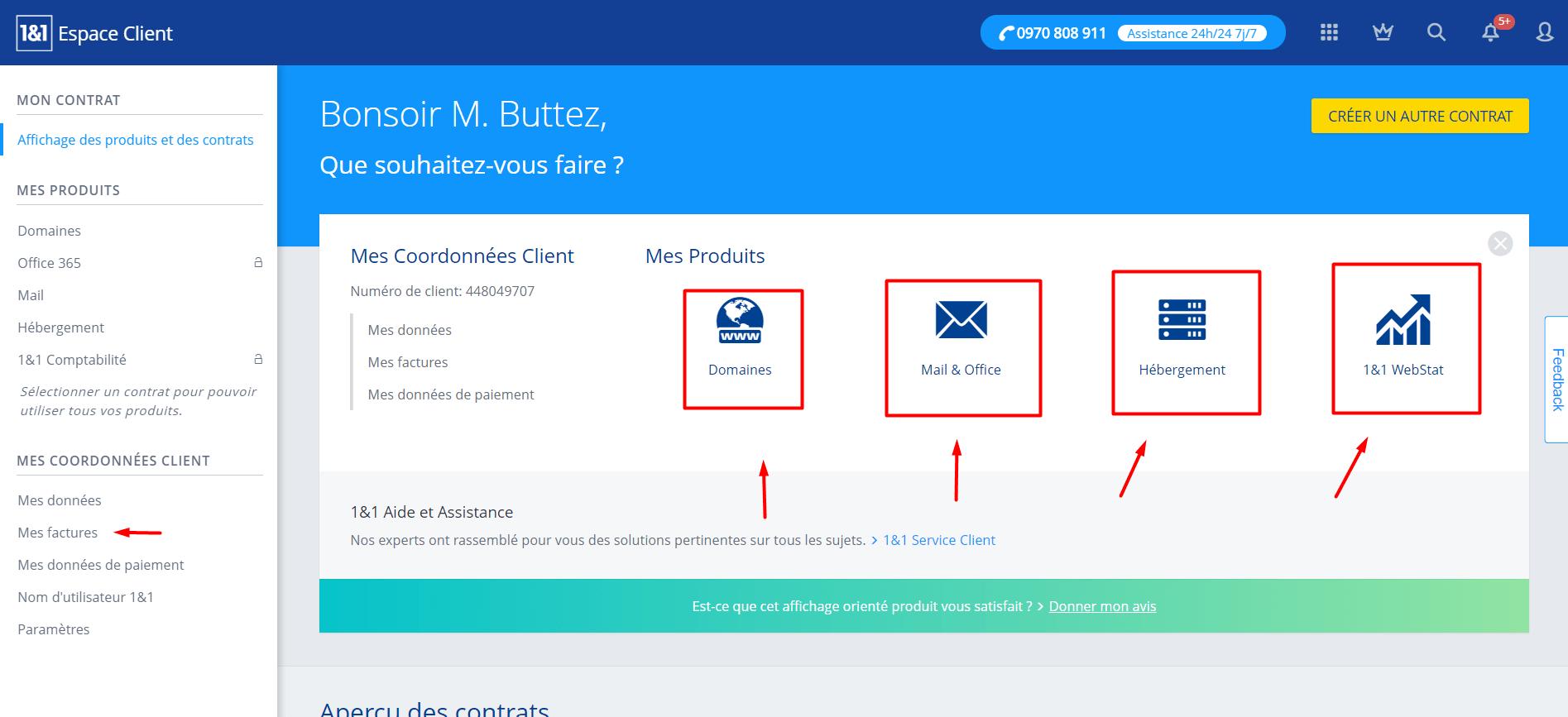 Exemple de gestion de serveur chez 1and1.fr