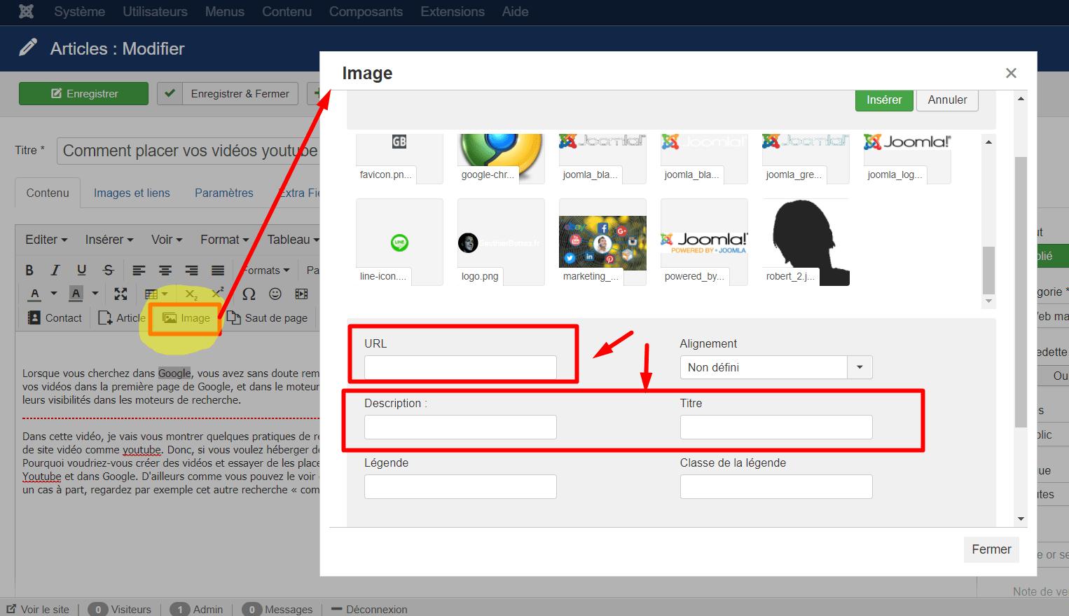Optimiser ajout d'une image sur Joomla