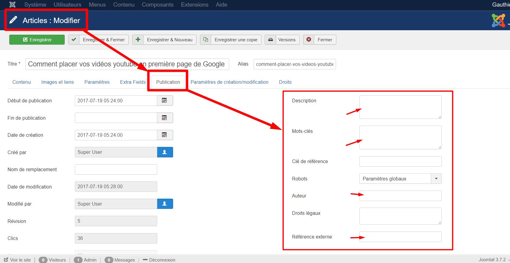 Optimiser un article Joomla