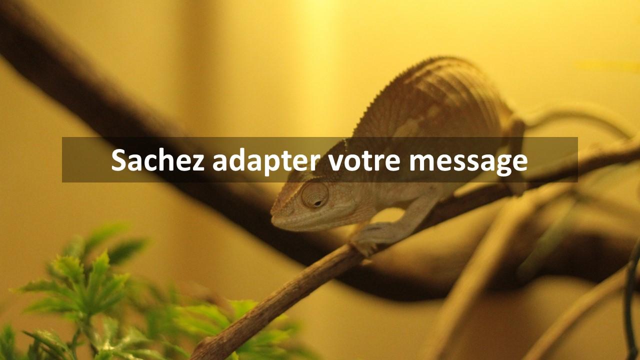 Sachez adapter votre message
