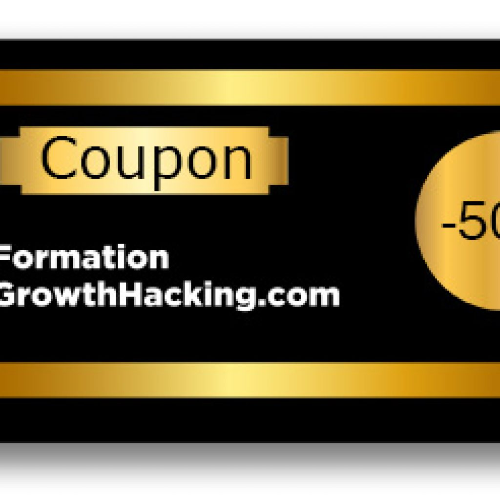 coupon de réduction formation growth hacking