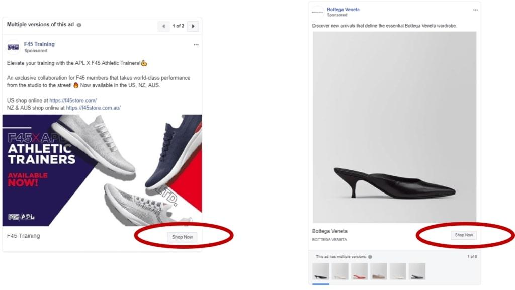 Les boutons CTA les plus utilisés améliorer ses Publicités Facebook
