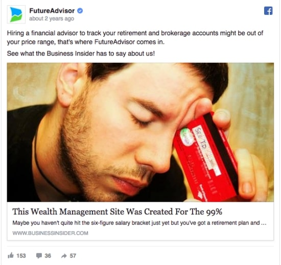 exemple annonce publicitaire facebook cupidité