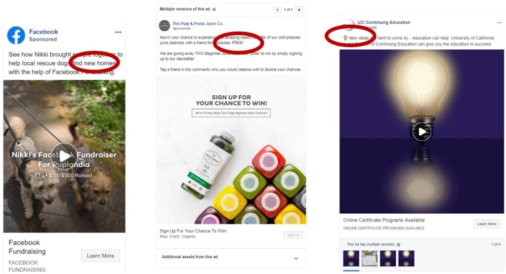 mot nouveau dans vos publicites facebook améliorer ses Publicités Facebook
