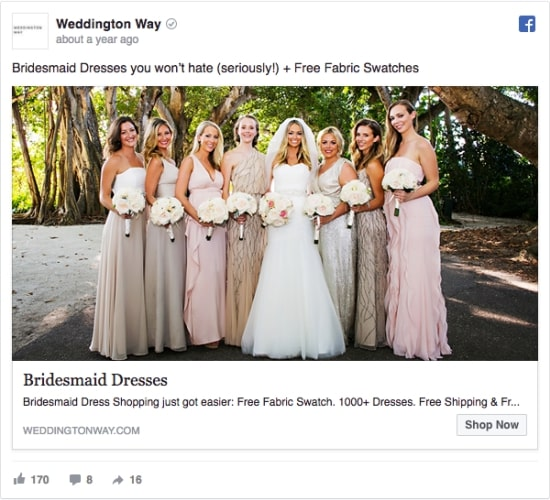pub facebook mariage