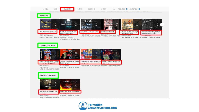 Organisez les vidéos de votre chaîne YouTube en playlists. Elles facilitent la navigation de vos viewers et augmentent leur rétention.