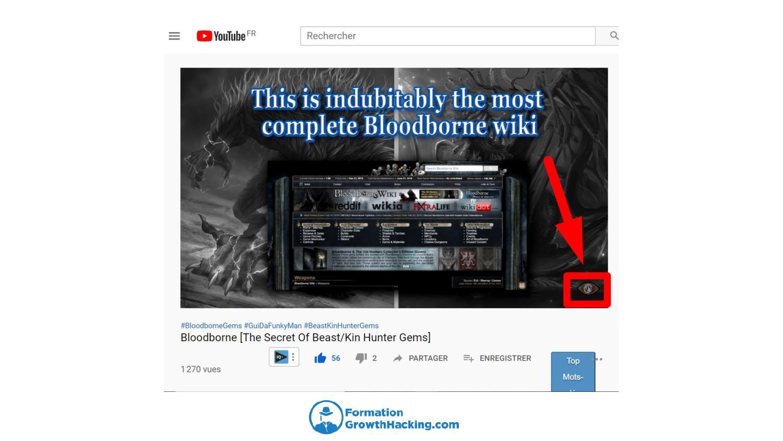 Le watermark est un CTA d'abonnement à ne pas négliger dans vos vidéos YouTube.