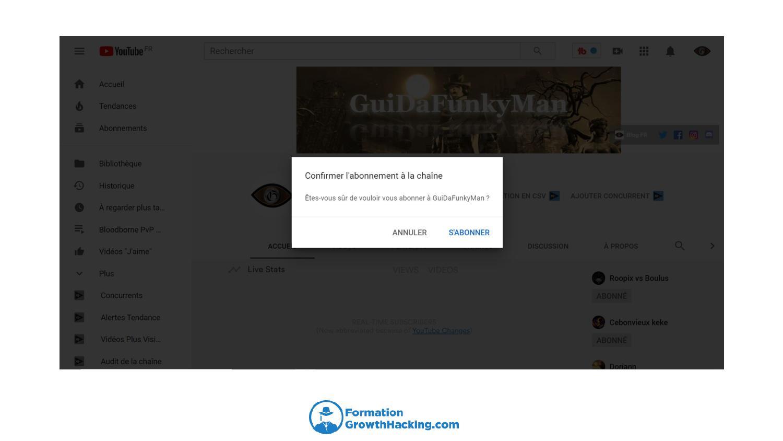 Insérer la balise ?sub_confirmation=1 à la fin de votre url de chaîne YouTube, afin d'inciter les gens à s'inscrire directement à cette dernière.