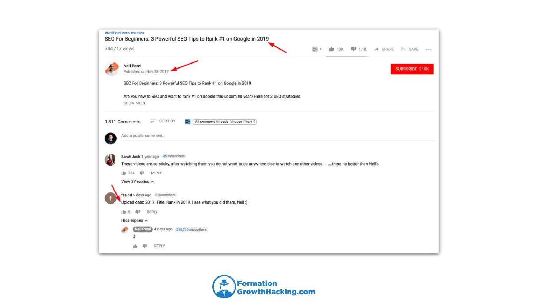 Mettre à jour les dates des titres de vos vidéos YouTube vous permettra de rester à la page, sans pour autant être obligé d'en réaliser de nouvelles.
