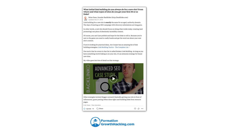 Bryan Dean a su tirer partie de Quora.com, en répondant à une question par le biais d'une de ses vidéos YouTube.