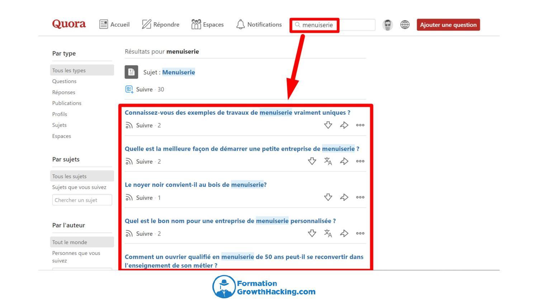 Répondre à des questions connexes en rapport avec votre activité sur Quora, vous permettra d'insérer vos vidéos YouTube.