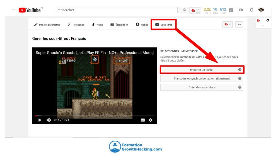 Importez vos propres fichiers de sous-titres, afin d'envoyer un message fort à Google et YouTube.