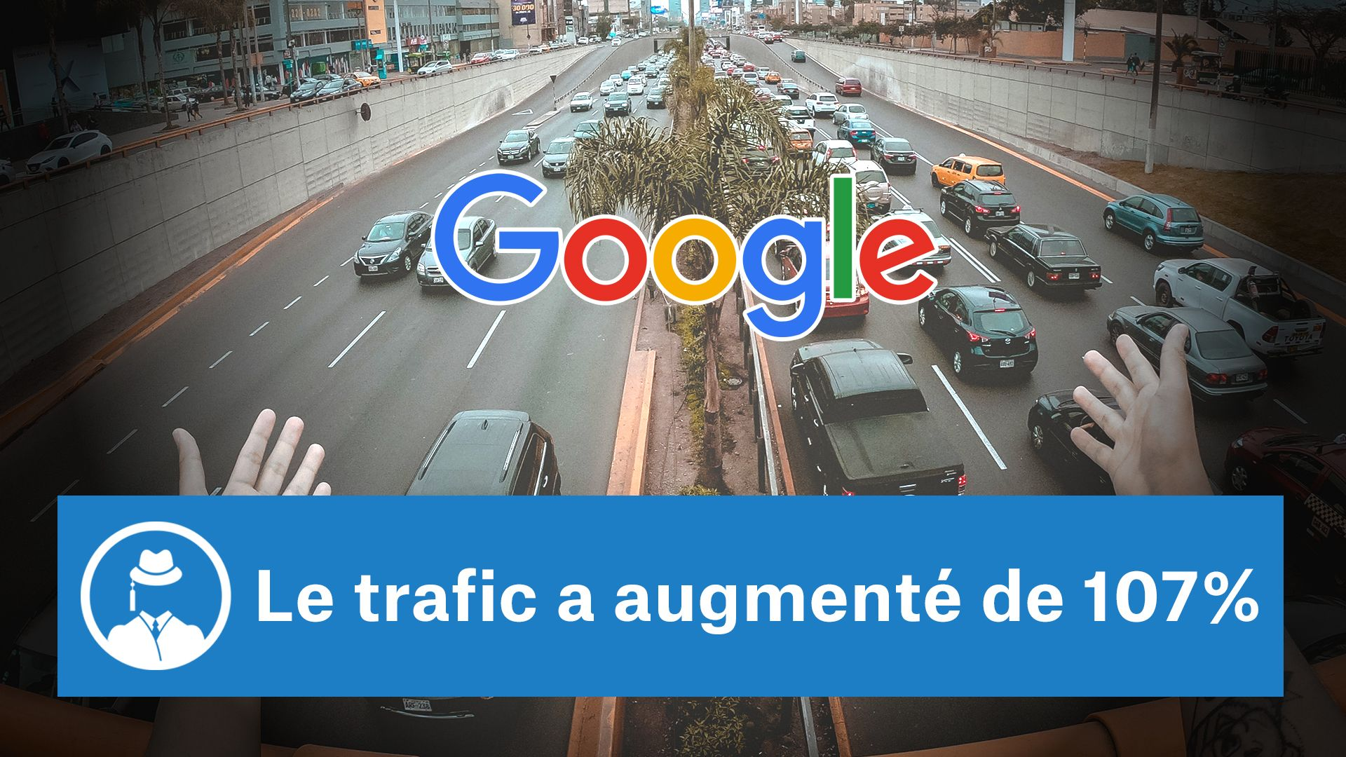 Le trafic a augmenté de 107% #GrowthHacking #WebMarketing #FormationGrowthHacking #CentreDeFormationFrance #TunnelAARRR #AARRR #SocialMedia #CommunityManagement #SEO #SiteWeb