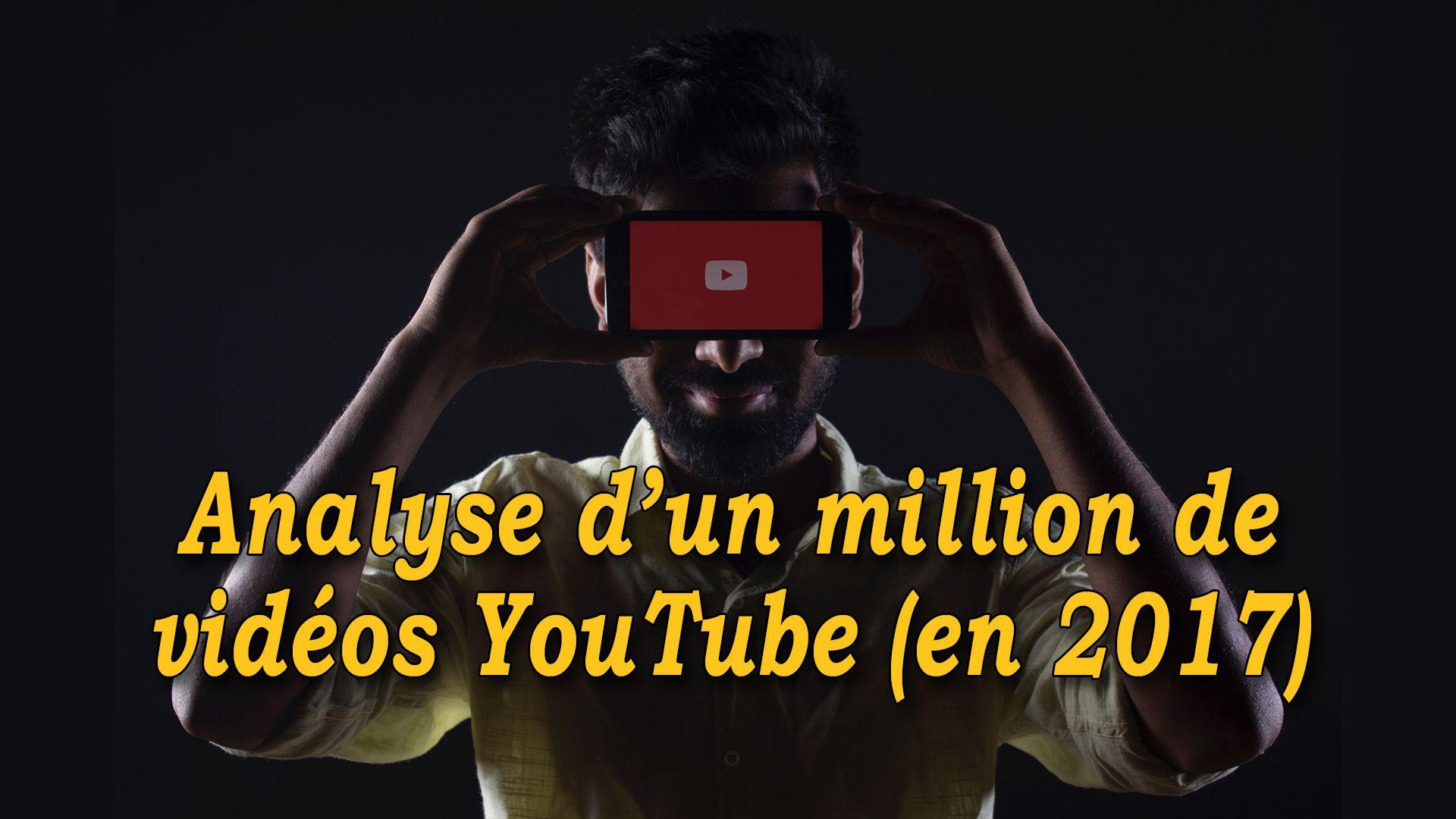 Analyse d'un millions de vidéos YouTube (en 2017) #GrowthHacking #WebMarketing #FormationGrowthHacking #CentreDeFormationFrance #TunnelAARRR #AARRR #SocialMedia #CommunityManagement #SEO #MarketingDigital #SiteWeb #YouTubeSEO #YouTube