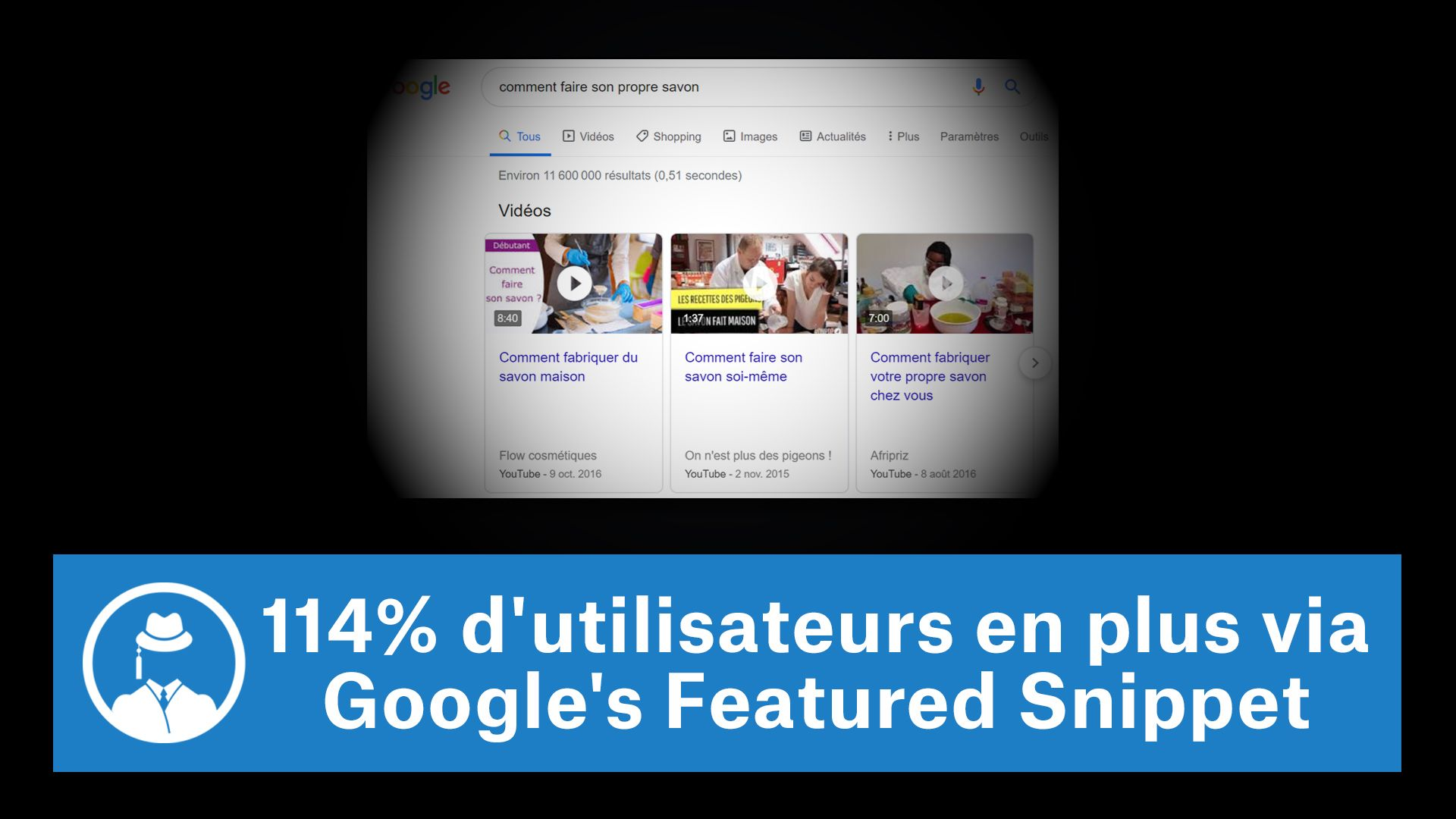 114% d'utilisateurs en plus via Google's Featured Snippet #GrowthHacking #WebMarketing #FormationGrowthHacking #CentreDeFormationFrance #TunnelAARRR #AARRR #SocialMedia #CommunityManagement #SEO #MarketingDigital #SiteWeb