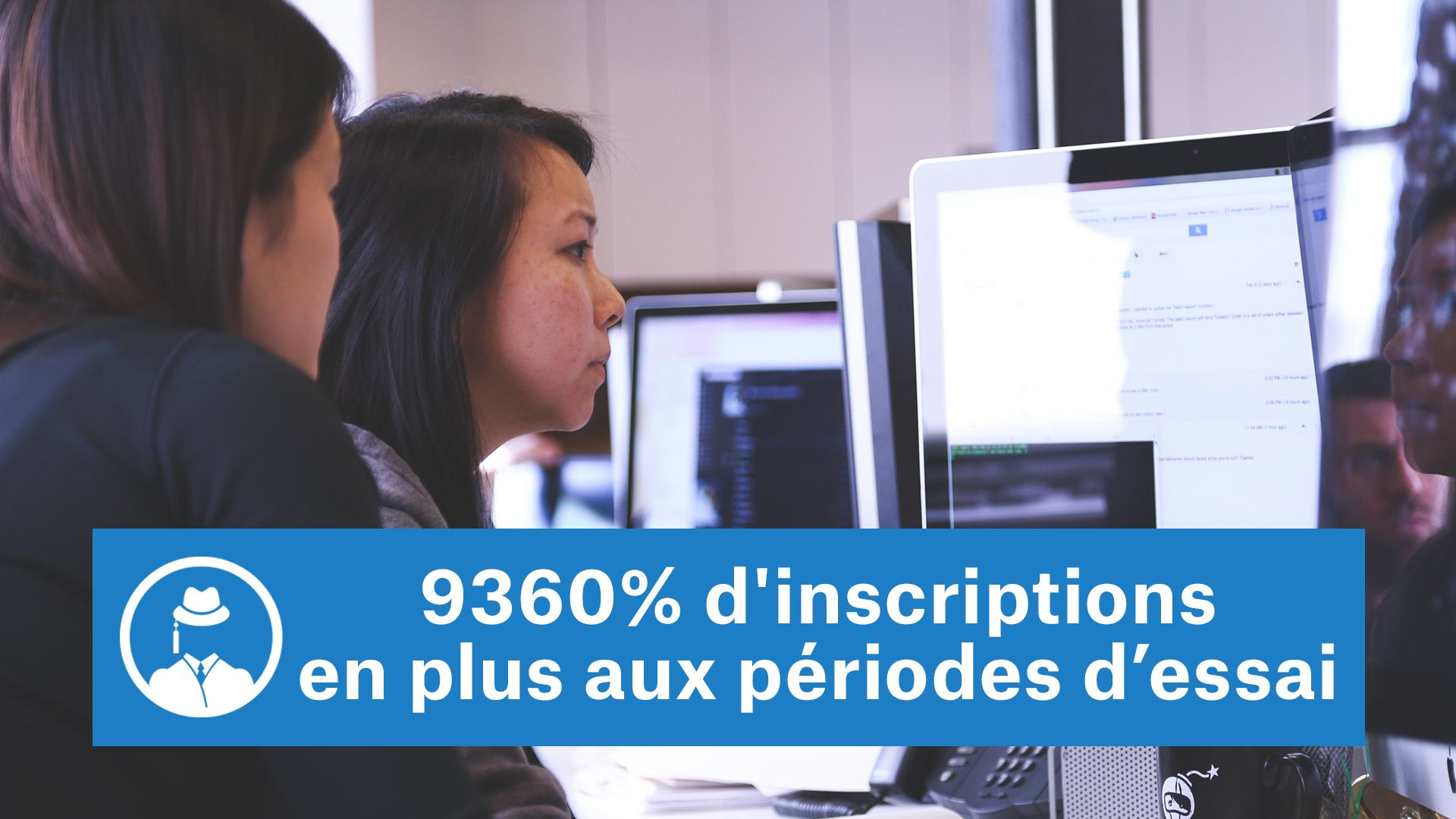 9360% d'inscriptions en plus aux périodes d'essai #GrowthHacking #WebMarketing #FormationGrowthHacking #CentreDeFormationFrance #TunnelAARRR #AARRR #SocialMedia #CommunityManagement #SEO #MarketingDigital #SiteWeb