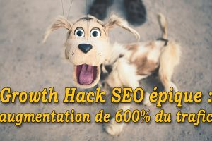 Growth Hack SEO épique #GrowthHacking #WebMarketing #FormationGrowthHacking #CentreDeFormationFrance #TunnelAARRR #AARRR #SocialMedia #CommunityManagement #SEO #MarketingDigital #SiteWeb: augmentation de 600% du trafic