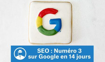 SEO : numéro 3 sur Google en 14 jours