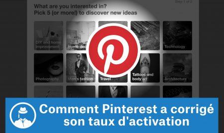 Comment Pinterest a corrigé son taux d'activation