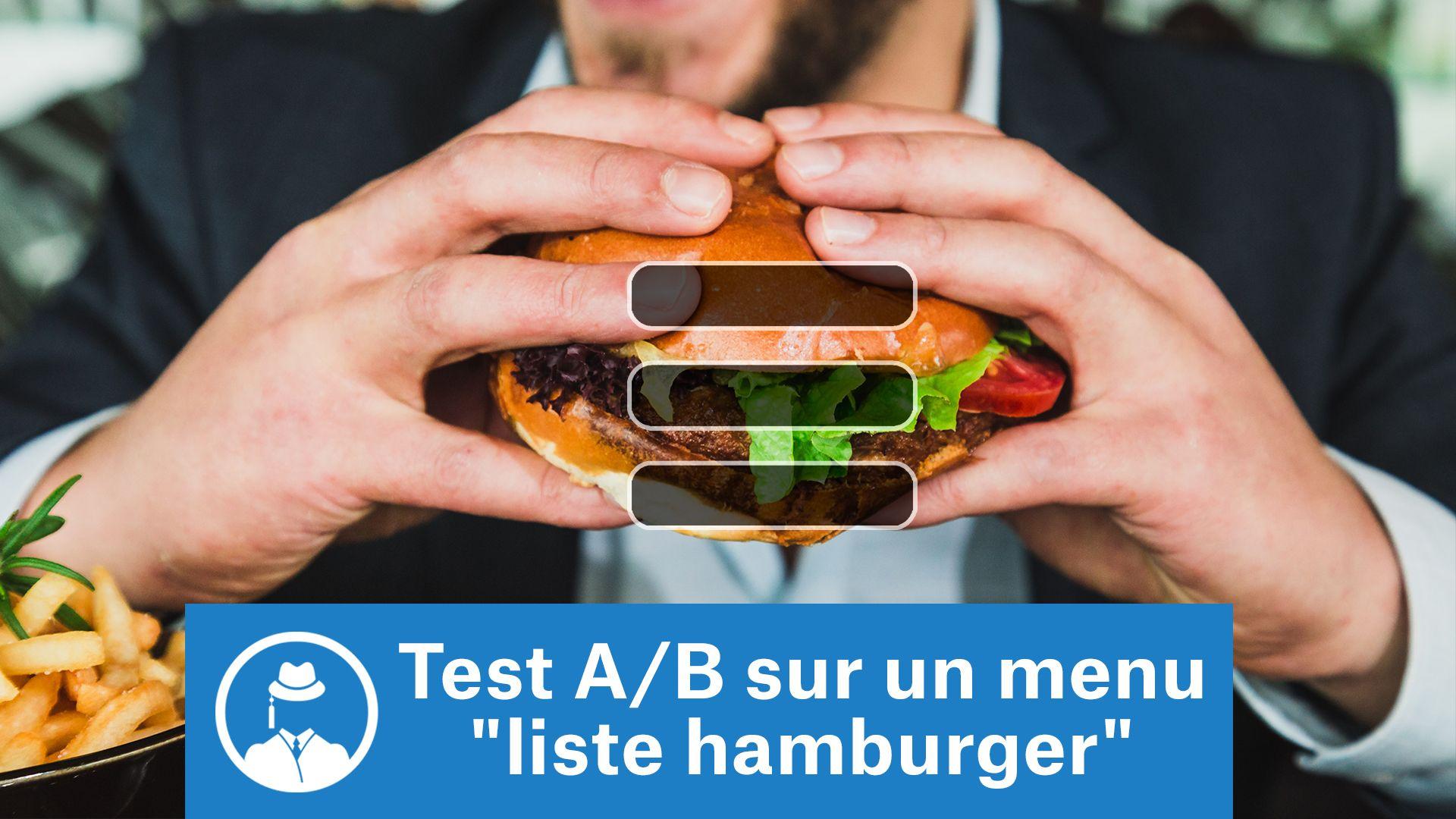 "Test A/B sur un menu ""liste hamburger"" #GrowthHacking #WebMarketing #FormationGrowthHacking #CentreDeFormationFrance #TunnelAARRR #AARRR #SocialMedia #CommunityManagement #SEO #MarketingDigital #SiteWeb #testAB #ABtesting"