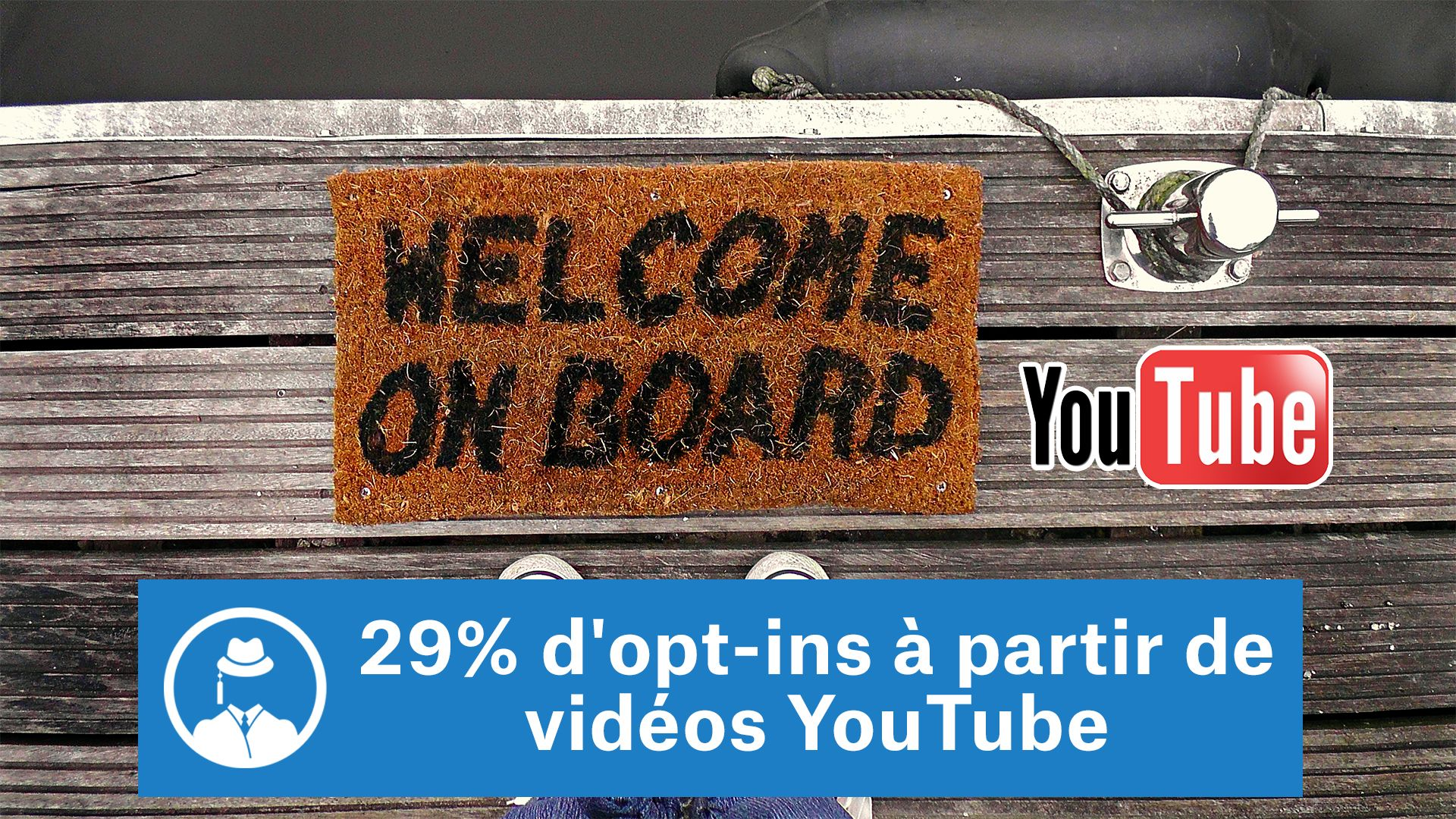 29% d'opt-ins à partir de vidéos YouTube #GrowthHacking #WebMarketing #FormationGrowthHacking #CentreDeFormationFrance #TunnelAARRR #AARRR #SocialMedia #CommunityManagement #SEO #MarketingDigital #SiteWeb #YouTube