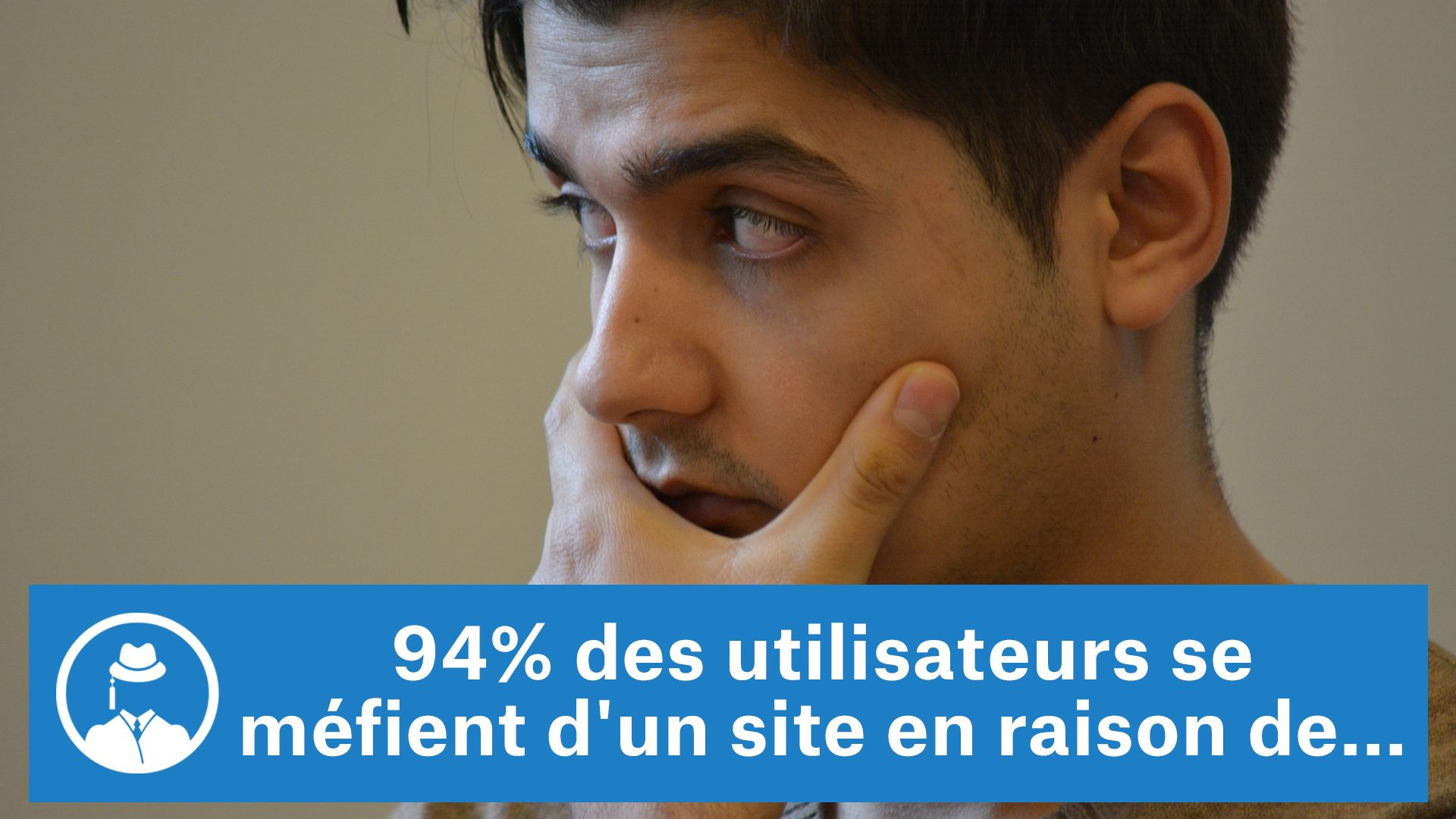 94% des utilisateurs se méfient d'un site en raison de... #GrowthHacking #WebMarketing #FormationGrowthHacking #CentreDeFormationFrance #TunnelAARRR #AARRR #SocialMedia #CommunityManagement #SEO #MarketingDigital #SiteWeb