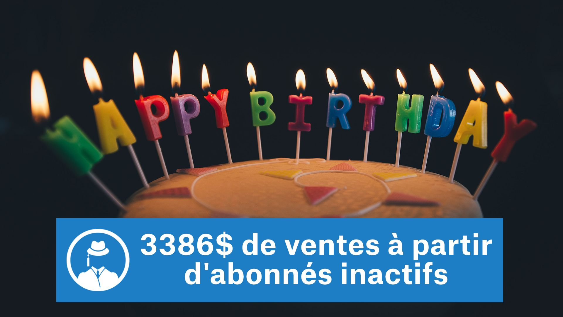 3386$ de ventes à partir d'abonnés inactifs #GrowthHacking #WebMarketing #FormationGrowthHacking #CentreDeFormationFrance #TunnelAARRR #AARRR #SocialMedia #CommunityManagement #SEO #MarketingDigital #SiteWeb
