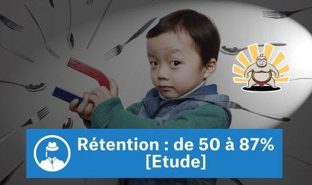 Rétention : de 50 à 87% [Etude]