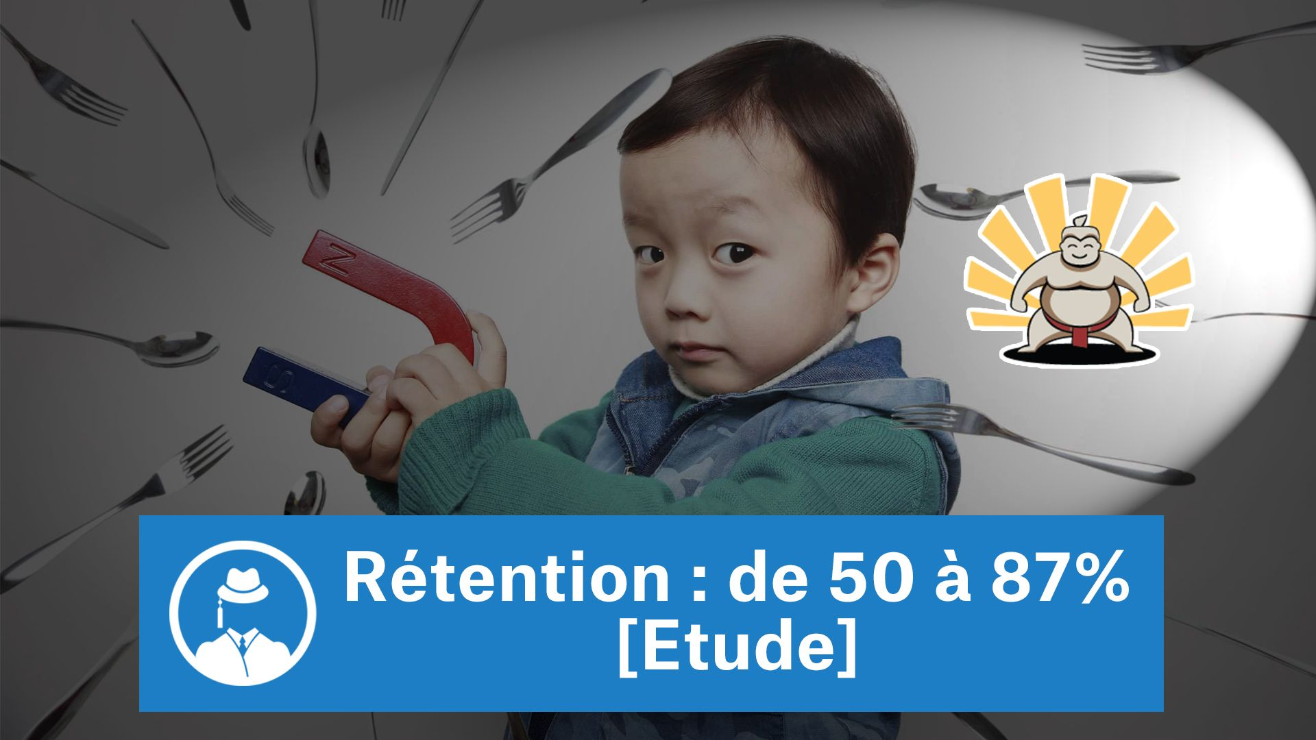 Rétention : de 50 à 87% [Etude] #GrowthHacking #WebMarketing #FormationGrowthHacking #CentreDeFormationFrance #TunnelAARRR #AARRR #SocialMedia #CommunityManagement #SEO #MarketingDigital #SiteWeb